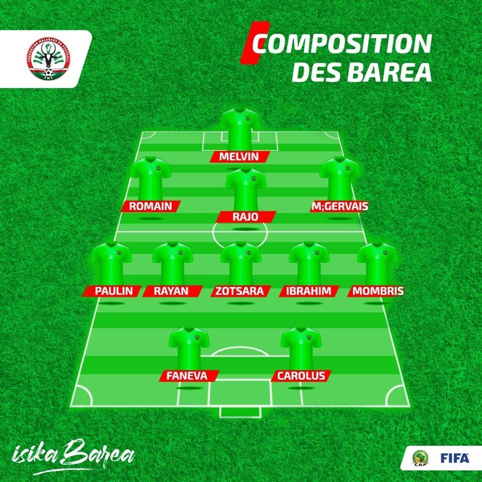 composition officiel barea